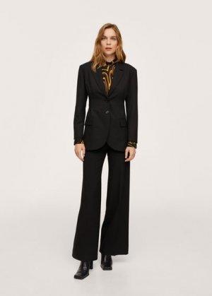 Пиджак с защипами - Katia Mango. Цвет: черный