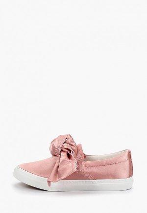 Слипоны Catisa. Цвет: розовый