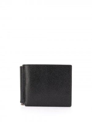 Фактурный бумажник Canali. Цвет: черный