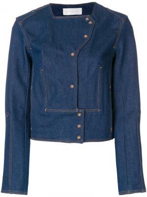 Укороченная джинсовая куртка Esteban Cortazar. Цвет: синий