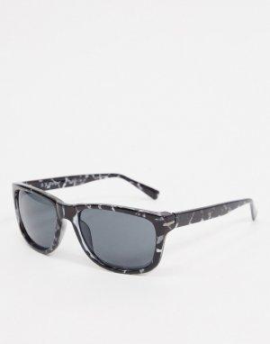 Квадратные солнцезащитные очки в серой черепаховой оправе -Серый AJ Morgan