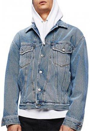 Куртка DIESEL. Цвет: голубой