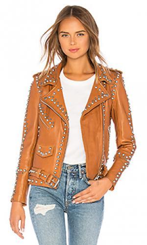 Кожаная куртка western dome easy rider Understated Leather. Цвет: коричневый