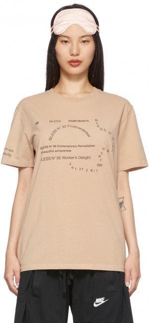 Beige Nº69 Lost In Contemplation Multicollection II T-Shirt Bless. Цвет: skintone3