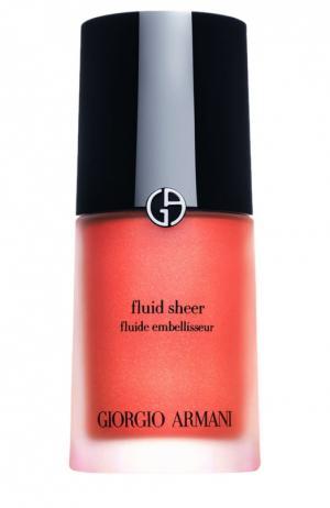 Fluid Sheer флюид для сияния кожи оттенок 5 Giorgio Armani. Цвет: бесцветный