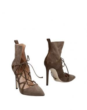 Полусапоги и высокие ботинки ALEJANDRO INGELMO. Цвет: хаки