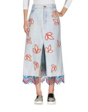 Джинсовая юбка PETER PILOTTO. Цвет: синий
