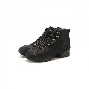 Комбинированные ботинки ROA. Цвет: чёрный
