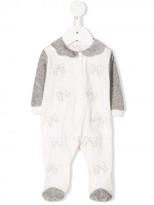 Embroidered bow pyjamas Aletta. Цвет: белый