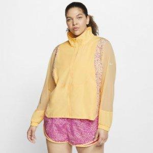 Женская беговая куртка Nike Icon Clash (большие размеры) - Желтый