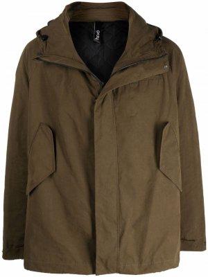 Куртка на молнии с капюшоном Hevo. Цвет: зеленый