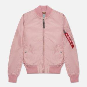 Женская куртка бомбер MA-1 TT Alpha Industries. Цвет: розовый
