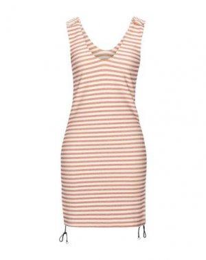 Короткое платье F**K PROJECT. Цвет: ржаво-коричневый