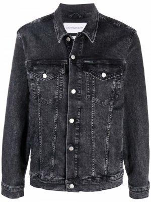 Джинсовая куртка на пуговицах Calvin Klein Jeans. Цвет: серый