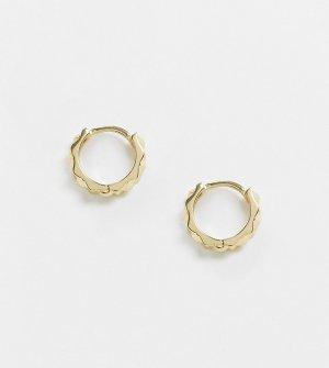 Эксклюзивные серьги-кольца из позолоченного серебра DesignB-Золотой DesignB London