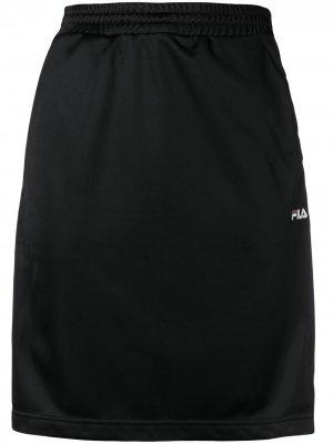 Короткая спортивная юбка Jenna Fila. Цвет: черный