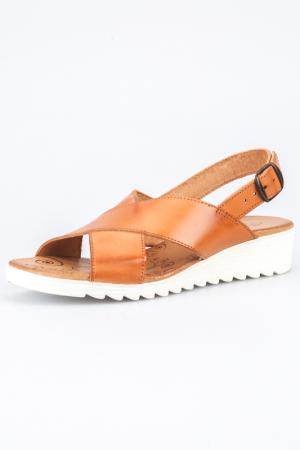 Sandals Andrea Conti. Цвет: cognac