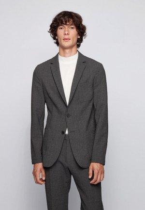 Пиджак Boss Noswen3. Цвет: серый