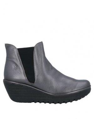 Полусапоги и высокие ботинки FLY LONDON. Цвет: свинцово-серый