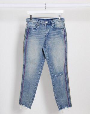 Синие джинсы прямого кроя Blank NYC-Голубой NYC