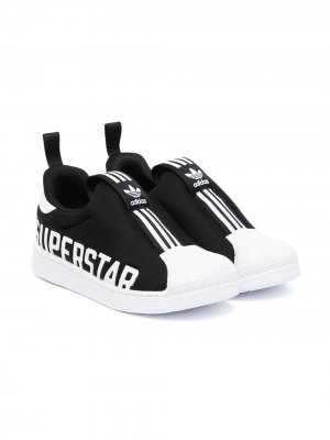 Слипоны Superstar adidas Kids. Цвет: черный