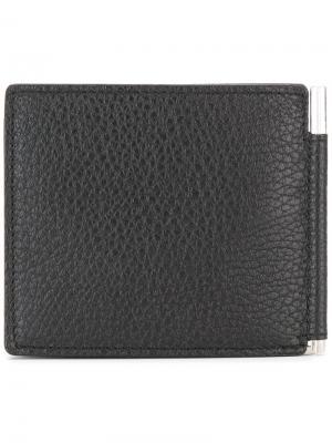 Бумажник с зажимом для купюр TF Tom Ford. Цвет: чёрный