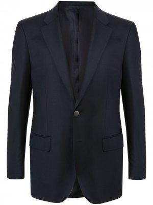 Пиджак узкого кроя Gieves & Hawkes. Цвет: синий