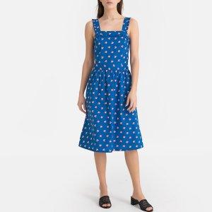 Платье-миди La Redoute. Цвет: синий