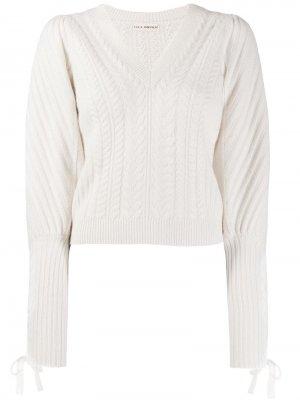 Пуловер Brisa кроя слим Ulla Johnson. Цвет: нейтральные цвета