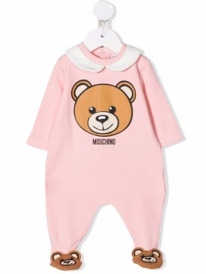 Bear motif romper Moschino Kids. Цвет: розовый