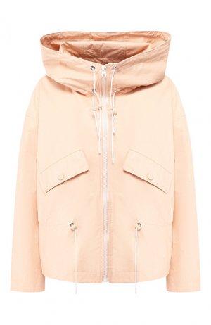 Кожаная куртка Yves Salomon. Цвет: светло-розовый