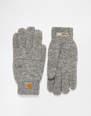 Перчатки Carhartt Scott WIP. Цвет: серый