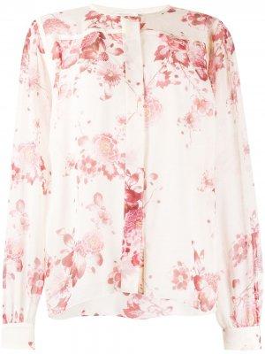 Блузка с цветочным принтом Giambattista Valli. Цвет: розовый