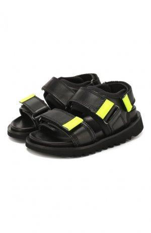 Кожаные сандалии Gallucci. Цвет: чёрный