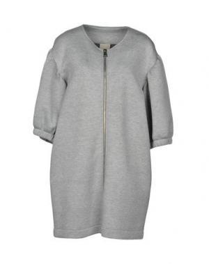 Легкое пальто JIJIL. Цвет: светло-серый