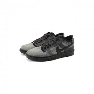 Текстильные кеды Comme Des Garcons x Nike. Цвет: чёрный
