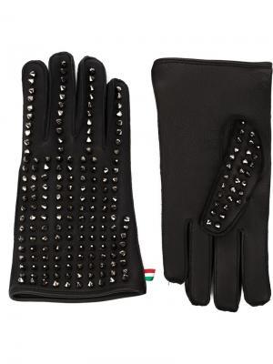 Перчатки Live Philipp Plein. Цвет: чёрный