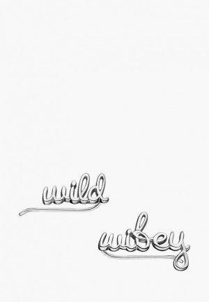 Каффы Wanna?Be! Wild / wifey. Цвет: серебряный