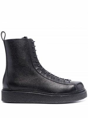 Platform lace-up boots Emporio Armani. Цвет: черный