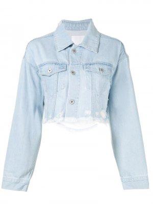 Укороченная джинсовая куртка Ground Zero. Цвет: серый