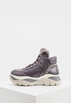 Ботинки Mou. Цвет: серый
