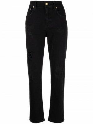 Джинсы бойфренды с прорезями Dolce & Gabbana. Цвет: черный