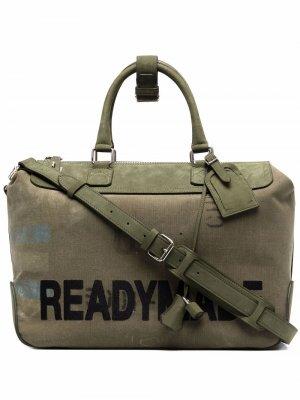 Спортивная сумка с логотипом Readymade. Цвет: зеленый