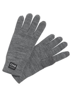 Перчатки Jack&Jones. Цвет: серый меланж