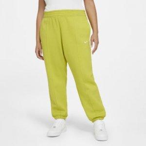 Женские флисовые брюки Nike Sportswear Trend (большие размеры) - Зеленый