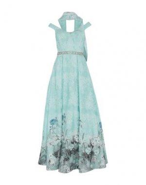 Длинное платье MIKAEL. Цвет: светло-зеленый