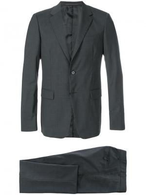 Официальный костюм узкого кроя Prada. Цвет: серый