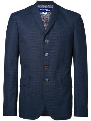Пиджак с карманами клапанами Junya Watanabe Comme Des Garçons Man. Цвет: синий