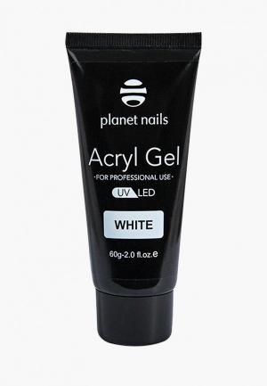 Гель-лак для ногтей Planet Nails Acryl Gel белый, 60 гр. Цвет: белый