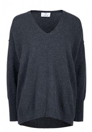 Пуловер ALLUDE. Цвет: серый